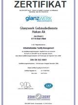 Zertifikat DIN EN ISO 9001-2000